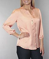 $22 Dull satin solid blouse