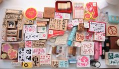 Collection of rubber stamps  ^_ ^ by Ishtar olivera ♥, via Flickr