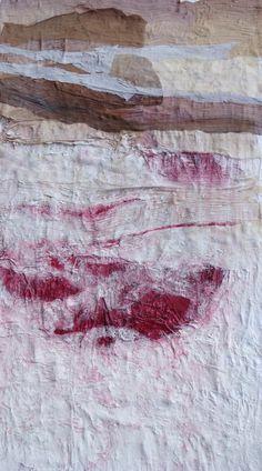 """Grande quadro astratto - arte contemporanea- pittura materica- titolo: """"Mondi""""-misura cm.50x100"""