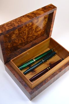 Moroccan Wood Box - ideal for the pen collection.