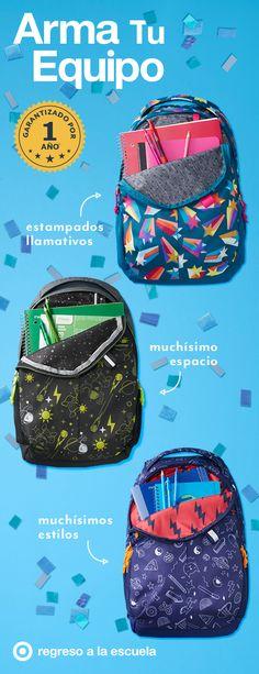 Las mochilas de Cat & Jack tienen muchos detalles y estilos para el regreso a la escuela. Hay un look para cada estudiante: estrellas fugaces multicolor, rayas rosadas brillantes y exploradores del espacio. Tienen detalles de alta calidad como cierres resistentes, cómodas correas con relleno, telas interiores de colores y mensajes inspiradores. Todo bajo la garantía de un año de Cat & Jack.