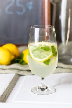 Lemonade with Fresh Mint by the Glass