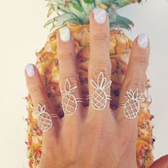 Pineapple Rings (Sterling Silver) Handmade jewelry from Hawaii #handmadesilverjewelry
