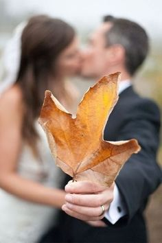 Autumn wedding bliss wedding couples kiss outdoors autumn bride groom leave