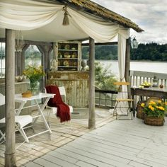 outdoor living room deck @Debra Palmer where lance can fish and you can create