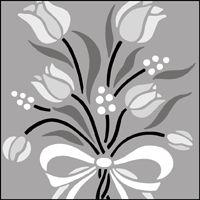 Flower motif no 3 stencil.
