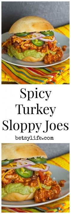Spicy Turkey Sloppy Joes. A fun dinner recipe that's great for game day or a busy weeknight meal. Super simple to make!