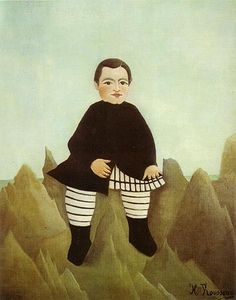 Boy on the Rocks - Henri Rousseau. Art Experience NYC www.artexperiencenyc.com/social_login/?utm_source=pinterest_medium=pins_content=pinterest_pins_campaign=pinterest_initial
