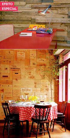 decoração com caixotes