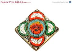 40% OFF SALE Italian Millefiore Micro Mosaic by Yourgreatfinds