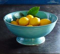Cambria Footed Bowl | Pottery Barn - turquoise - great accent for counter top #LGLimitlessDesign #Contest