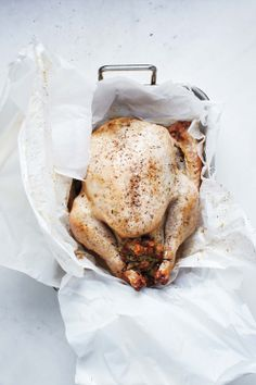 Roasted Turkey in Parchment Paper, recipe and photo by Martha Stewart Living magazine, reprinted with permission   rasamalaysia.com