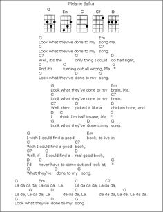 UKULELE – Look What They've Done To My Song
