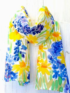Find here online price details of companies selling Hand Painted Silk Scarves. Get info of suppliers, manufacturers, exporters, traders of Hand Painted Silk Scarves for buying in India. Color 2017, Purple Wildflowers, Tie Dye Crafts, Painted Clothes, Silk Art, Floral Scarf, How To Wear Scarves, Painted Silk, Hand Painted