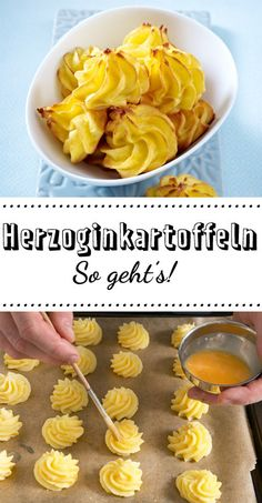 herzoginkartoffeln-selber-machen-so-gehts-lecker/ - The world's most private search engine Duchess Potatoes, Benefits Of Potatoes, Perfect Mashed Potatoes, Christmas Food Gifts, Thanksgiving Side Dishes, Lunch Snacks, Side Dishes Easy, Winter Food, Yummy Treats