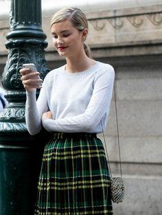 Love the look @ New York Fashion Week s/s 2014 #newyorkfashionweek #nyfw #streetstye #ELLE #pretty