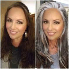 a work in progress - Gorgeous Gray Hair - Beauty Tips and Tricks Long Gray Hair, Silver Grey Hair, Grey Hair Young, Blue Grey Hair, Grey Hair Dye, Pastel Hair, Purple Hair, Green Hair, Gray Hair Colors
