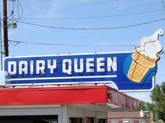 Old-School Dairy Queen Sign by El Cobrador, via Flickr