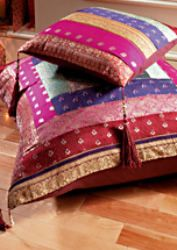 Antique sari cushion cover large. 80 x 80cm