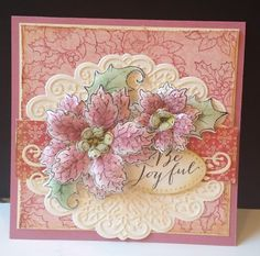 Plum Poinsettias by DJRants - Cards and Paper Crafts at Splitcoaststampers  #HeartfeltCreations