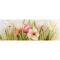 Pink Flowers Canvas Oil Painting Wall Art $179.95