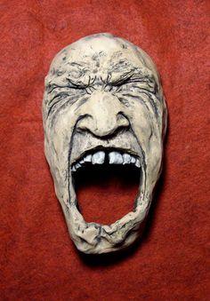 Ceramic Face Wall Sculpture by blmartinstudios on Etsy. , via Etsy.