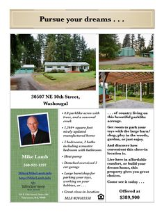 New Listing! Real Estate for Sale: $389,900-3 Bd/2 Ba Nicely Updated One Level Dbl-Wd Home + Large Barn/Shop on 4.82 Parklike Acres at: 30507 NE 10th St, Washougal, Clark County, WA! Area 33. Listing Broker: Mike Lamb (360) 921-1397, Windermere Stellar, Vancouver, WA! #realestate #justlisted #WashougalRealEstate #OneLevelRealEstate #DoubleWide #ManufacturedHome #ThreeBedroom #Acreage #Parklike #Barn #Shop #ThreeCarOversizedGarage #Creek #MikeLamb #WindermereStellar