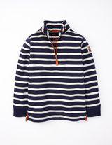 Half Zip Sweatshirt (Navy/Bone)