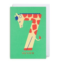 Number Seven Giraffe – Lagom Design Illustrations, Illustration Art, Lagom Design, Alfabeto Animal, Number Crafts, Numbers Preschool, Preschool Crafts, Birthday Cards, Stationery
