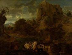 Пейзаж с Геркулесом и Какусом America, Painting, Art, Art Background, Painting Art, Kunst, Paintings, Performing Arts, Painted Canvas