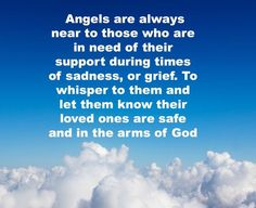 The angels are always near to those who are grieving, to whisper to them that their loved ones are safe in the hand of God.  ~Quoted in The Angels' Little Instruction Book by Eileen Elias Freeman, 1994  We appreciate you! Moore-Cortner Funeral Home Winchester, Tn www.moorecortner.com