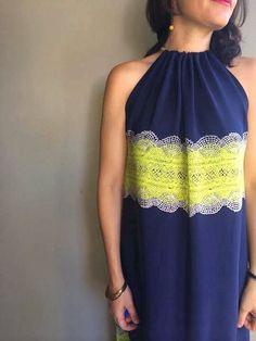 My Citron Lacey Drawstring Dress - Sew Tessuti