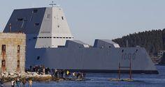 El novedoso destructor USS Zumwalt