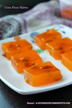 Corn Flour Halwa / Karachi Halwa ~ Kitchen Secrets and Snippets