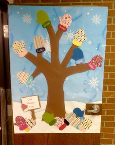Our preschoolers made their very own Mitten Tree to go ...