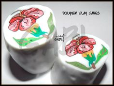 Flower polymer clay cane