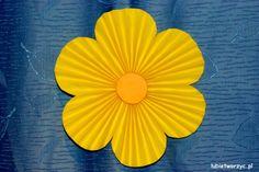Lubię Tworzyć: Kwiat z harmonijkowych serc