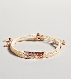 AEO Love  Hope Bracelet Duo#Repin By:Pinterest++ for iPad#