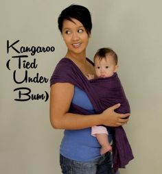 Babywearing: The Shorty Wrap - several front and back carries