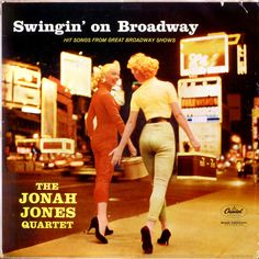 Are these two affectionate ladies carrying hat boxes along Broadway part of The Jonah Jones Quartet? Are they really two more Quartet members? They don't look Gospel to me.