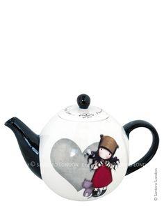 Teapot, Purrrrrect Love - Santoro's Gorjuss    Product Code: 301GJ01    Price: £15.00 (£18.00 inc UK tax)