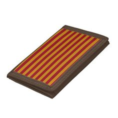Garnet and Gold Stripes Wallet