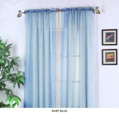 2-Pack: Voile Sheer Panels - Assorted Colors at 85% Savings off Retail!