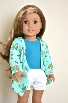 Cardigan American Girl doll Clothes by EliteDollWorld on Etsy