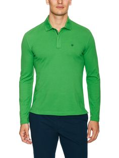 5f4f554d7 Victorinox VX Movement Long Sleeve Polo Shirt  Apple Green Long Sleeve Polo