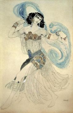 Leon Bakst - Dance of The Seven Veils (Salome) - art prints and posters