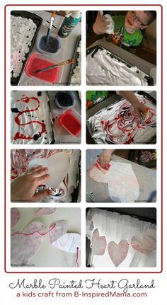 Make a Marbled Heart