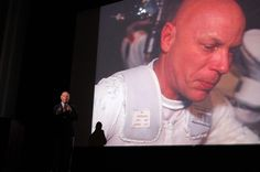 Astronaut Story Musgrave speaking at Western CT State University. Dr. Musgrave flew 6 shuttle missions,and was the first astronaut to perform repairs to the Hubble Telescope