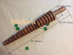 Wooden wet felting tool Felting Roller Wet felting tool for
