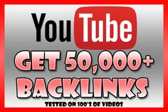 build 50,000 BACKLINKS to your YouTube Video for Seo Ranking by pbiswell